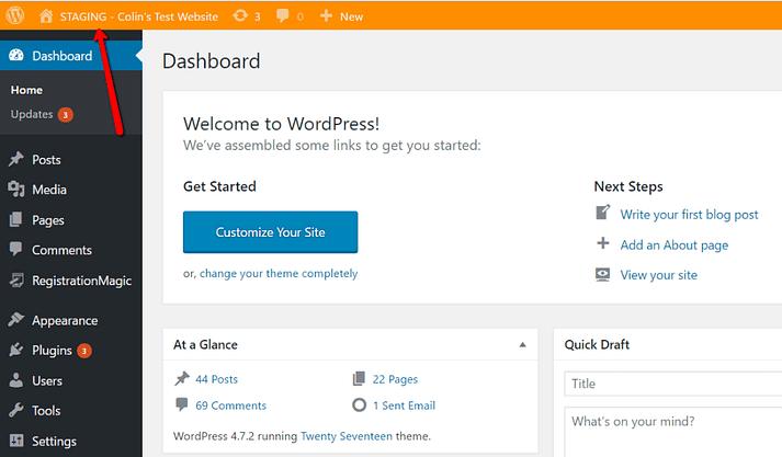 Build WordPress Staging Site using Plugin
