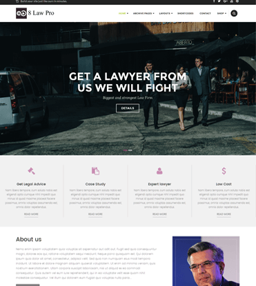 EightLaw Pro - Premium Lawyer WordPress Theme For Law Firm
