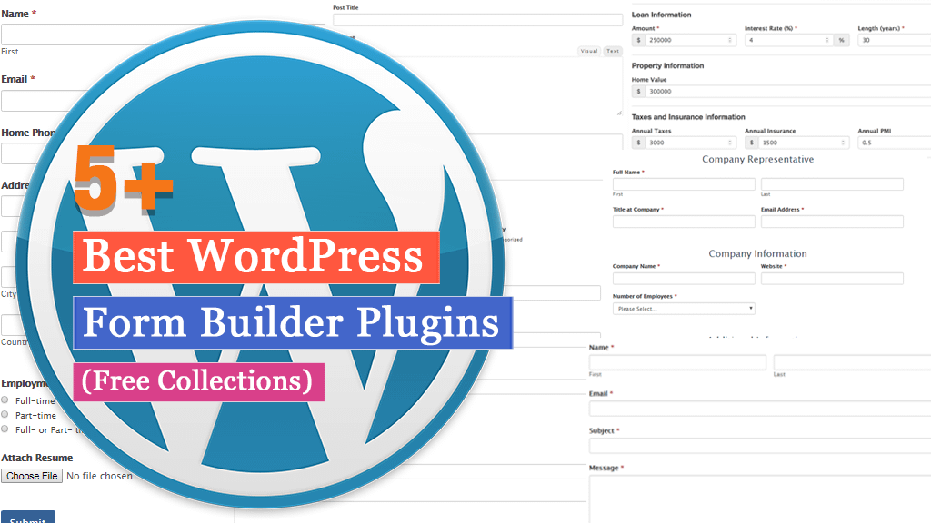 5+ Best Free WordPress Form Builder Plugins