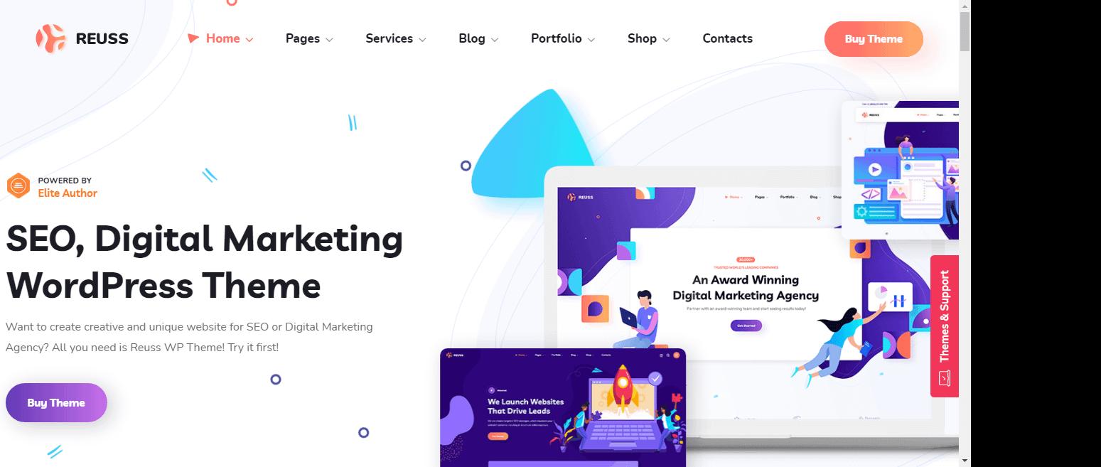 Reuss – Best Marketing Agency WordPress Theme