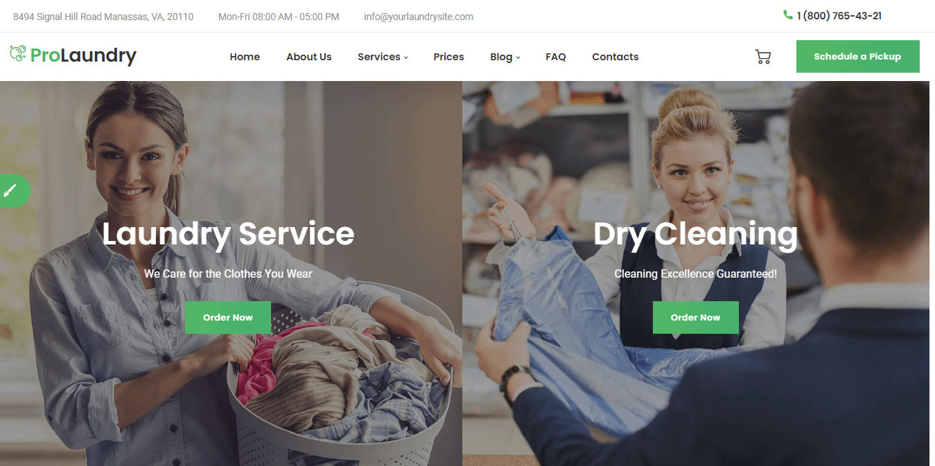 Laundry - Best WordPress Cleaning Service Theme