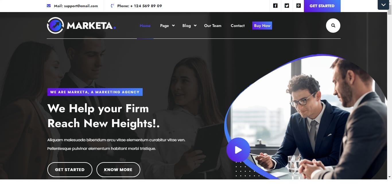 Marketing Agency Free WordPress Theme