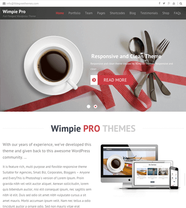 Wimpie Pro - Premium Responsive WordPress Business Theme