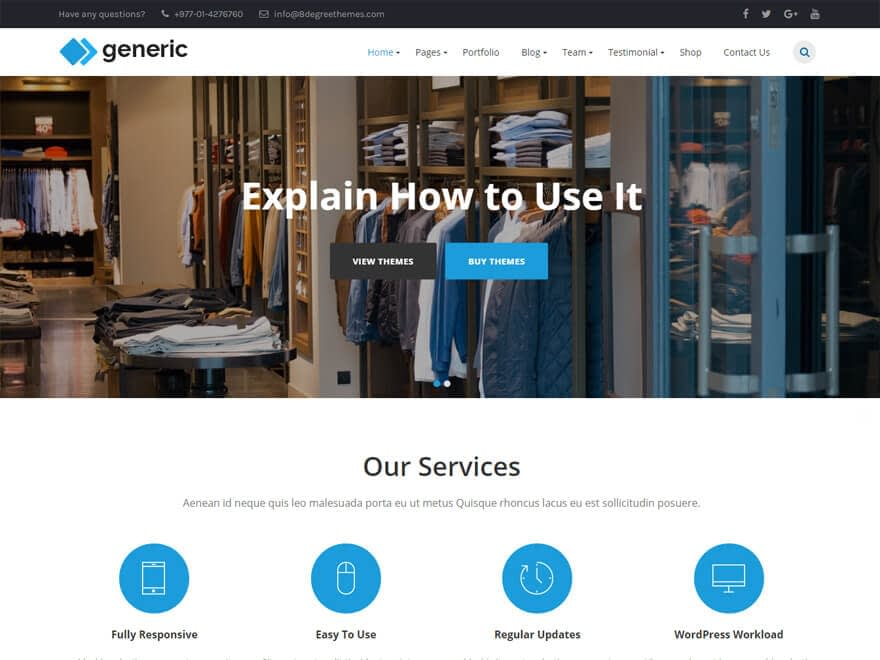 WP Generic - Free WordPress Blog Themes
