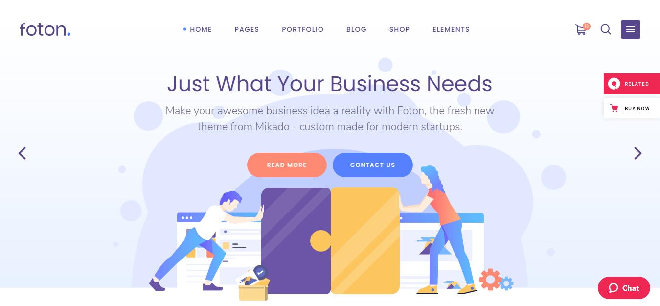 Foton - Best Software Company WordPress Theme