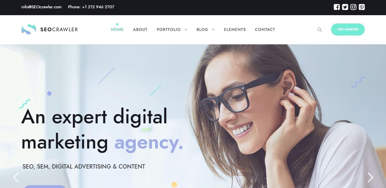 SEO Crawler – Best Marketing Agency WordPress Theme