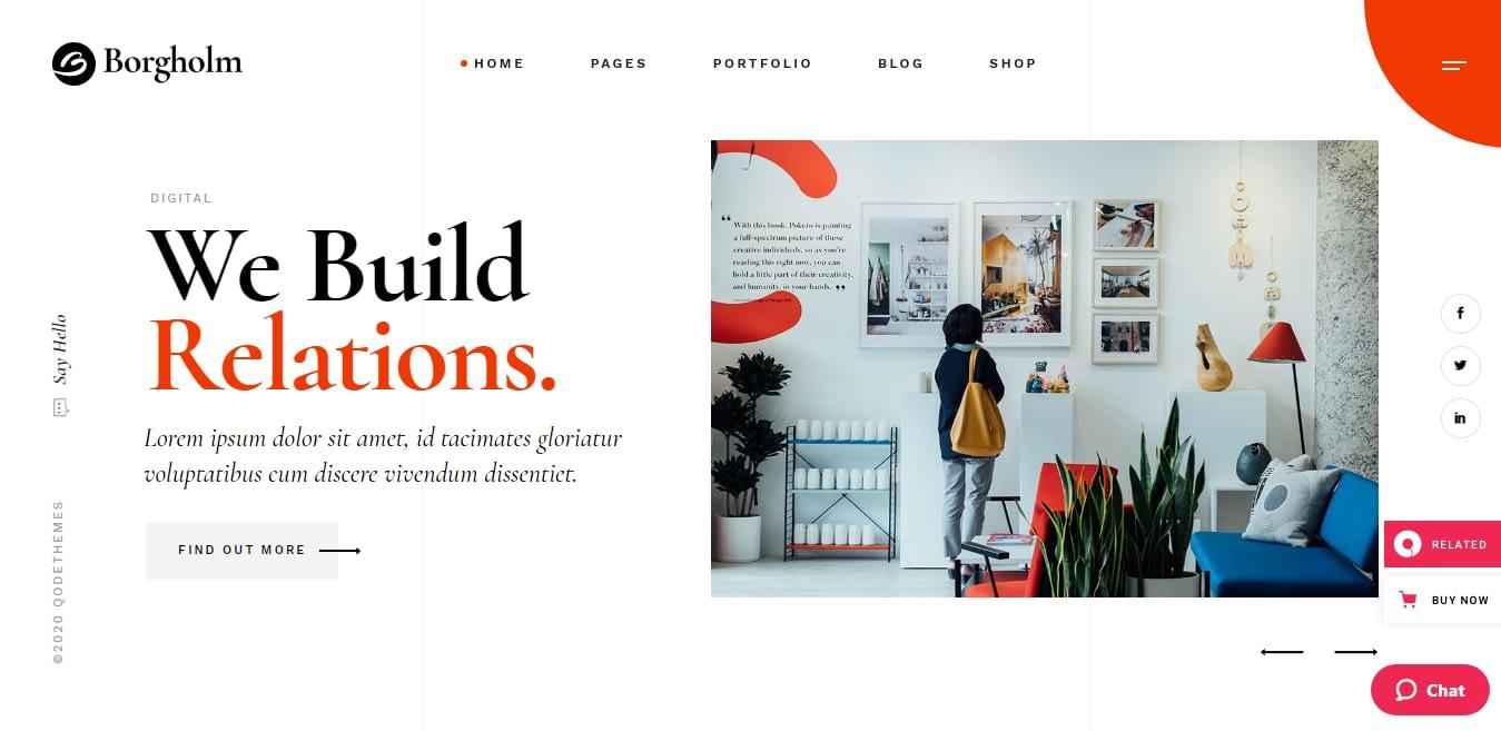 Borgholm – Best Marketing Agency WordPress Theme