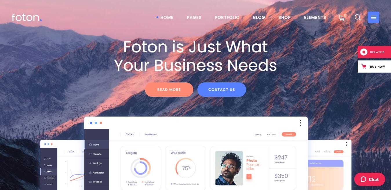Foton - Best SaaS WordPress Theme