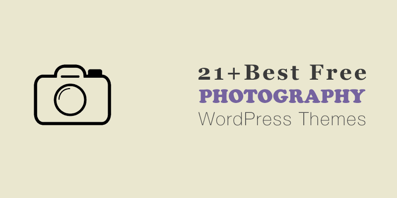 21+ Best Free Photography WordPress Themes 2021