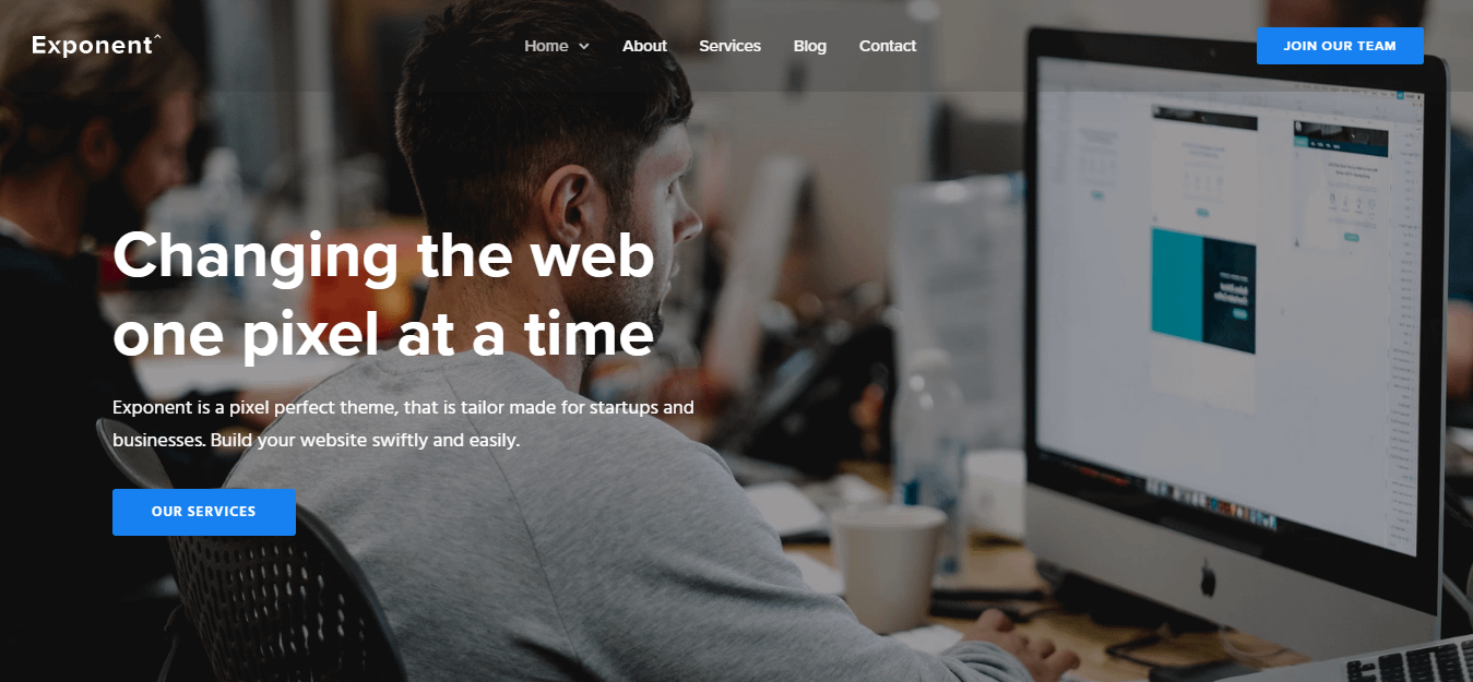 Exponent – Best WordPress Startup Theme