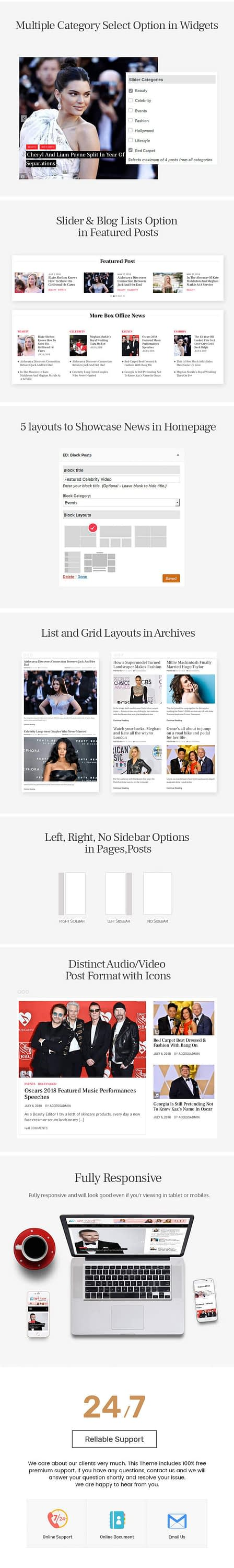 Eight Paper – Free Newspaper Magazine WordPress Theme