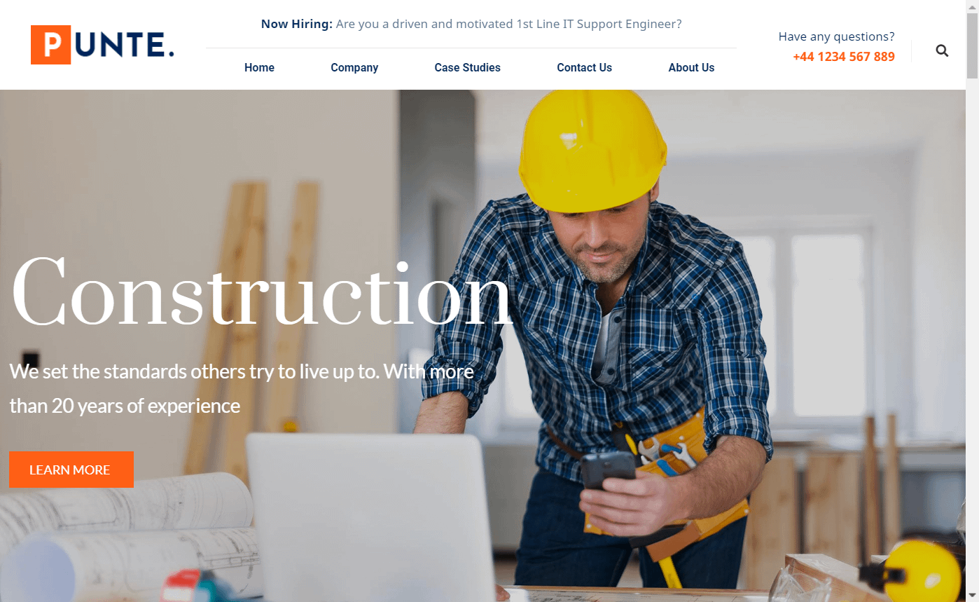 Punte - Elementor Based Construction Website