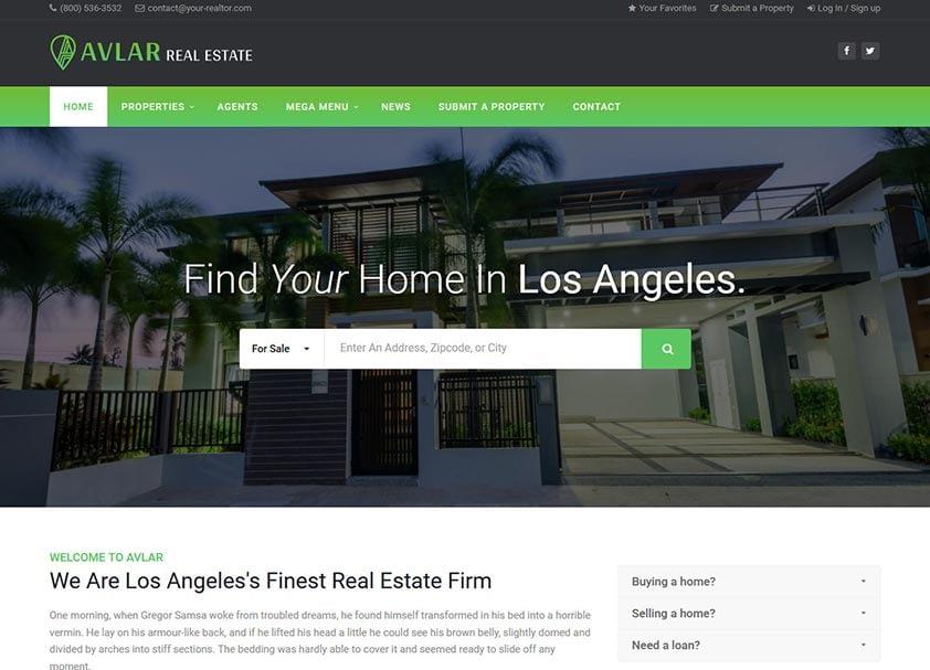 avlar-real-estate-wordpress-theme