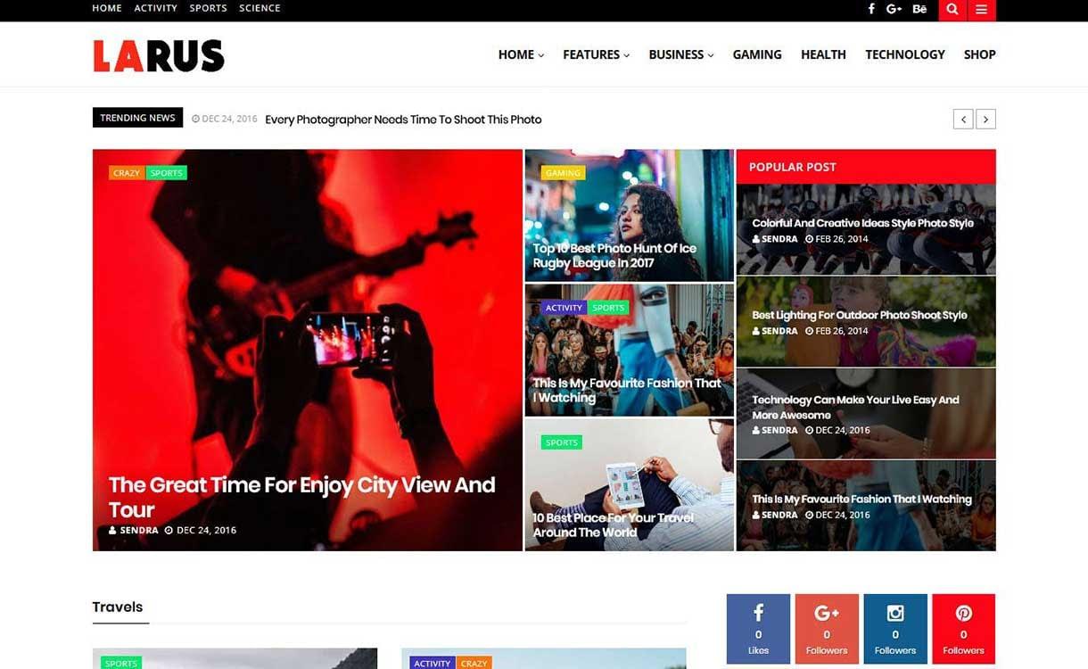 larus-best-premium-wordpress-blog-themes