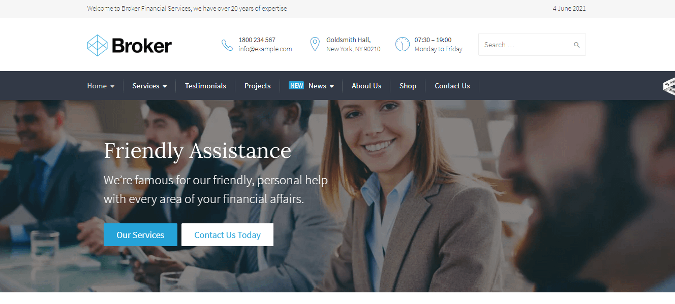 Broker - Best Financial Company WordPress Theme