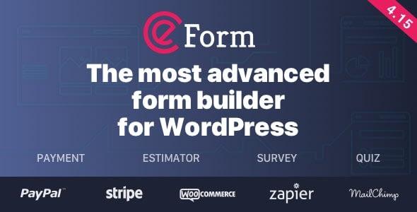Best WordPress Survey Plugin - eForm