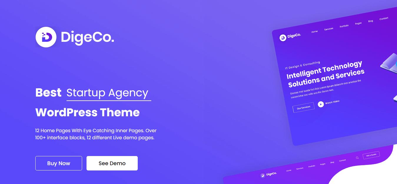 Digeco - Best WordPress Startup Theme