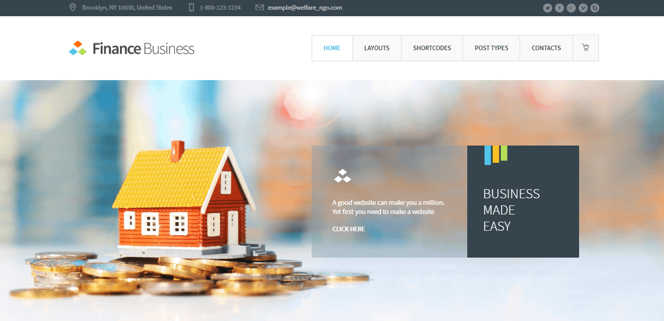 Finance Business - Best Financial Company WordPress Theme
