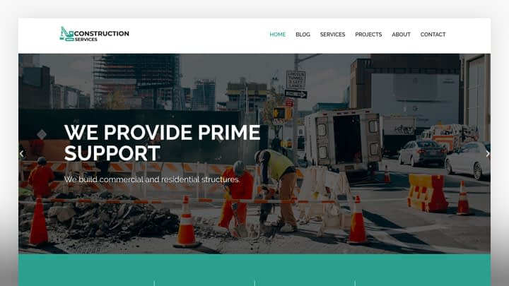 Constuction services- Construction WordPress theme