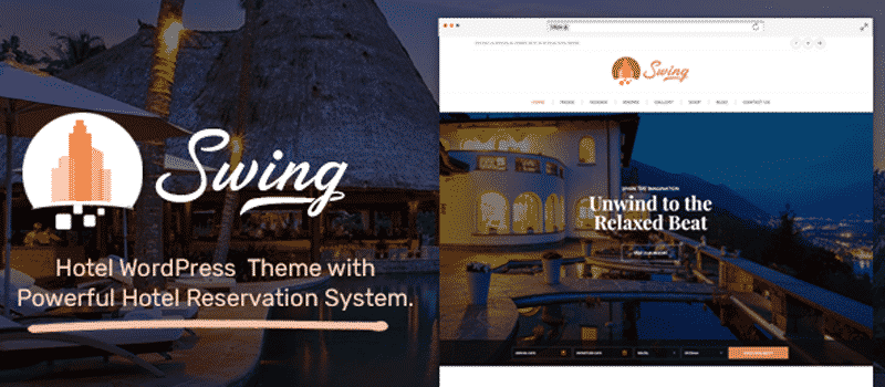 Swing – The Best Hotel and Resort WordPress Theme 2021