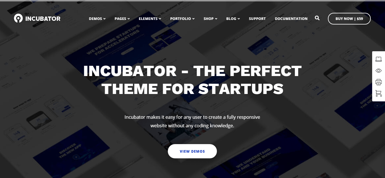 Incubator – Best WordPress Startup Theme