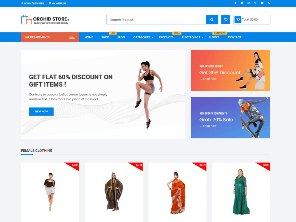Orchid Store WooCommerce Theme