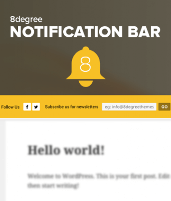 8 Degree Notification Bar - FREE Notification Bar WP Plugin