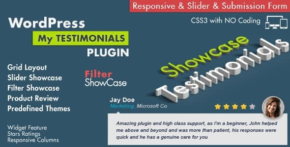 Best WordPress Testimonial Plugin: Testimonials Showcase WordPress Plugin