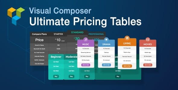 Ultimate Pricing Tables Add-on