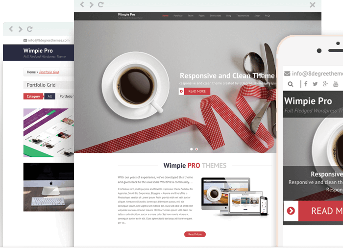 Wimpie Pro - Clean WordPress Theme