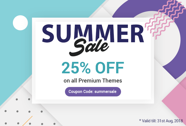 Summer 2018 WordPress Themes Sales Discount Coupon and Offers by 8Degree Themes