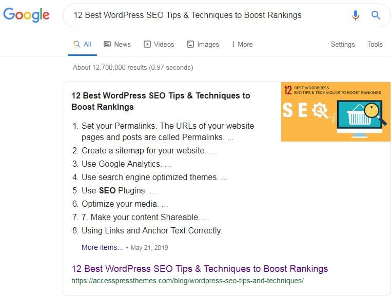 Appear in Google Answer Boxes with Your WordPress Site.