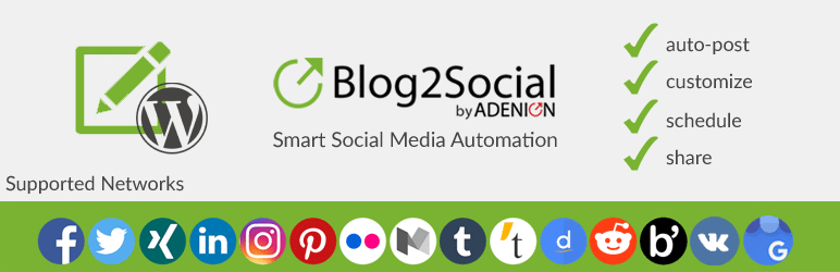 Blog2Social – Best Free WordPress Social Auto Post Plugins