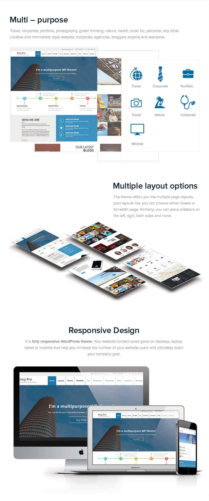 Zincy Pro – Premium Multipurpose WordPress Theme