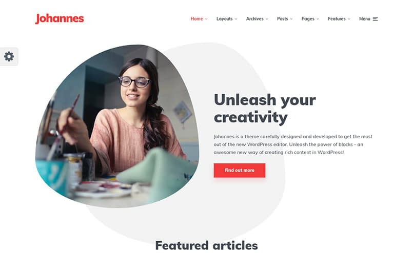 Johannes-WordPress-theme