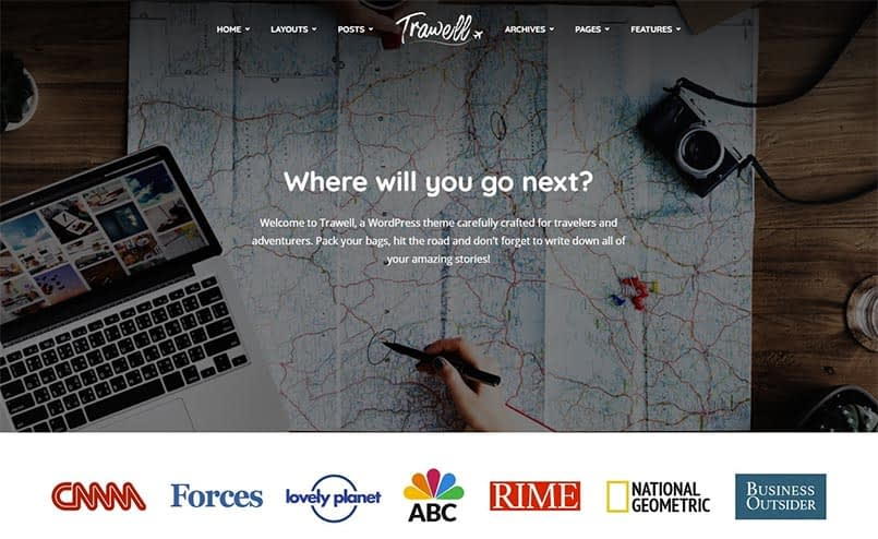 Trawell-WordPress-theme