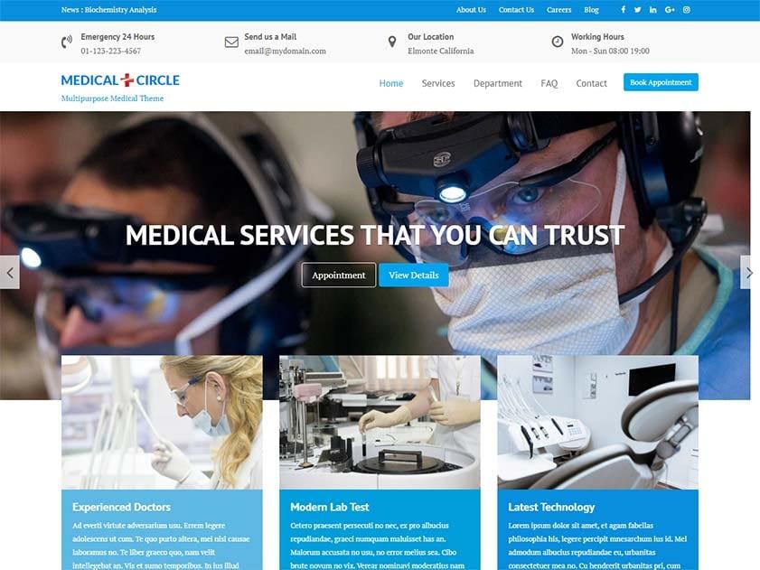 medical-circle-free-wordpress-theme