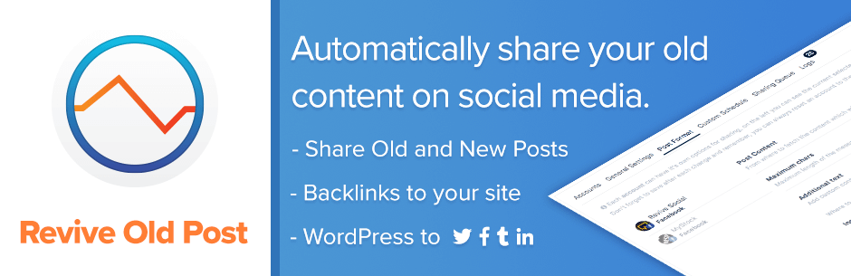 Revive Old Posts – Best Free WordPress Social Auto Post Plugins