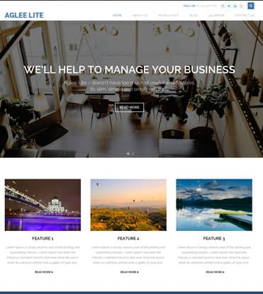 Aglee Lite - Best Free Responsive Business WordPress Theme