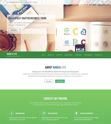 Hamza Lite - Free Business WordPress Theme