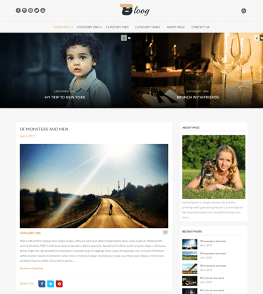 Bloog Lite - Free WordPress Blog Journal Theme