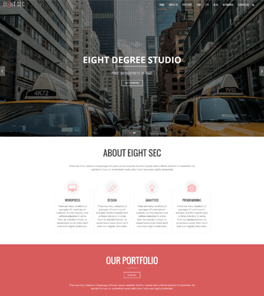 Eight Sec - Free One Page WordPress Theme