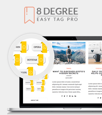 8 Degree Easy Tags Pro - WordPress Tags Designer Premium Plugin