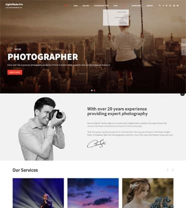 EightPhoto Pro - Best Premium WordPress Photography Theme