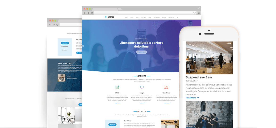Eight Degree – Free WordPress Corporate Business Theme